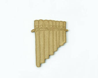 Decorative musical instrument of the family of the winds: pan flute