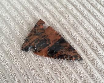 Beautiful Flint Knapped Lizard Skin Obsidian Arrowhead