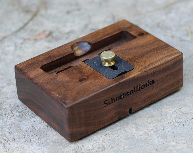 iPhone Docking Station - The CONCERT Acoustic Speaker Dock in Walnut – Use With or Without a Cover - Boosts the Sound
