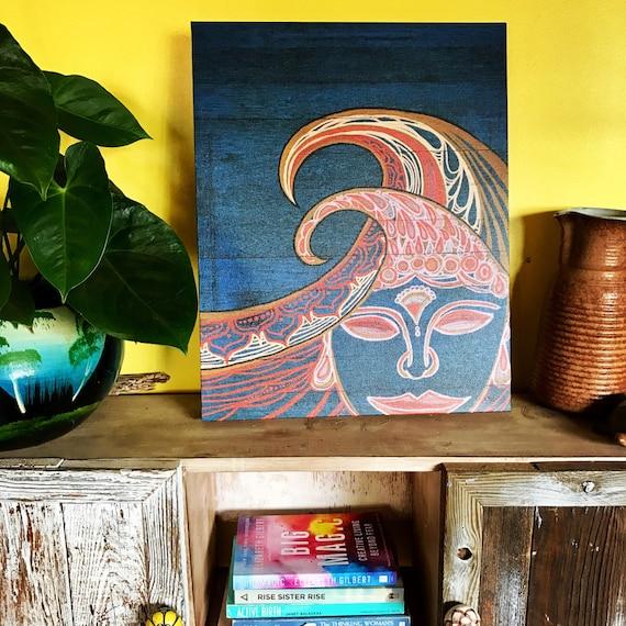 16x20 Canvas Print Zen Waves