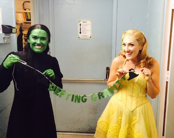 Defying Gravity Banner -- Wicked Glitter Banner / Photo Prop / Party Decoration