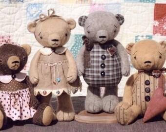 Primitive PATTERN Tubby Teddy Bears