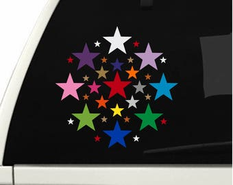Star stickers! Pick your size, color and quantity! Permanent outdoor glossy vinyl decals.