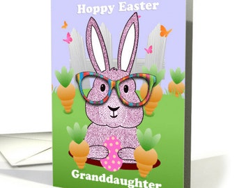 Hipster Easter Bunny, Easter Greeting Card, With Envelope, Quality A5 Matt Greeting Card