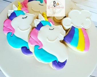 Unicorn & Rainbow Cookies (One Dozen)