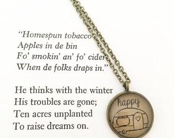 Happy Camper Hendersweet Necklace.