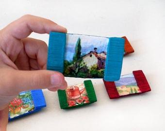 Fridge Magnets - Window Decor - Rustic Window Frame - Wedding Favors - Refrigerator Magnets - kitchen decor - Gift for Mom - ArtFlyCreations