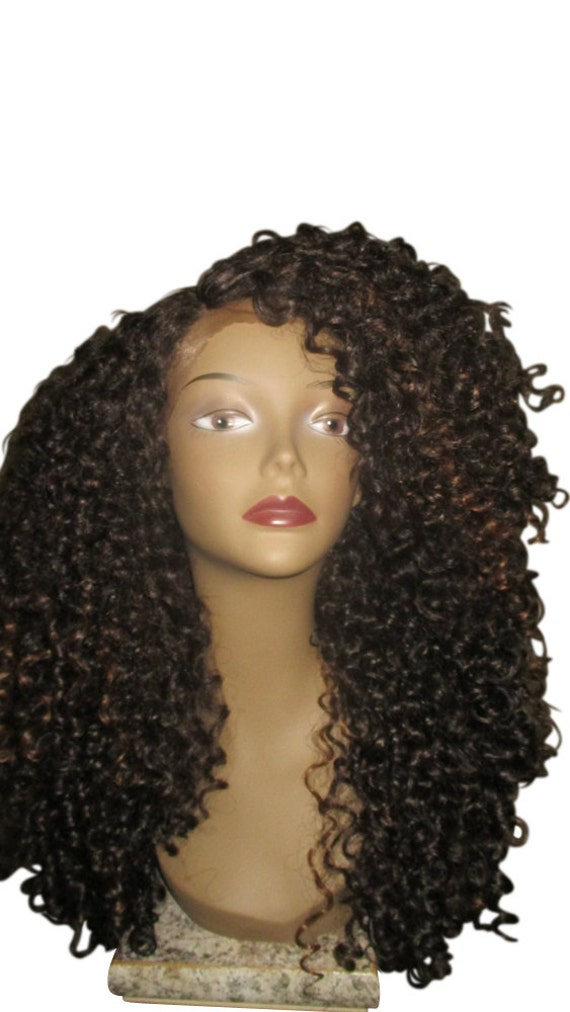 Essence Wigs The 'DIANA ROSS' Brown Highlights Lacefront Wig Full Cap Unit Sustainable Curly Lace Wig Special parting 3b 3c