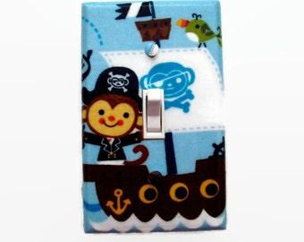 Pirate Light Switch Cover - Pirate Switch Plate - Pirate Nursery Decor