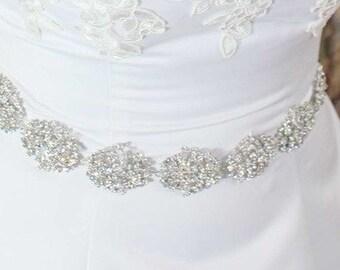 Swarovski Sash - Crystal Belt - Bridal Belt - Bridal Sash - Swarovski Belt - Wedding Belt - Wedding Sash - Crystal Sash - Victoria