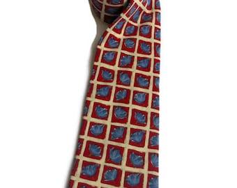 Colorful neck tie by JOOP  Cravat tie Vintage silk necktie Men's accessories Gift for him