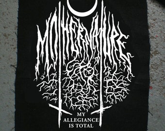mother nature black metal patch diy and dark as heck