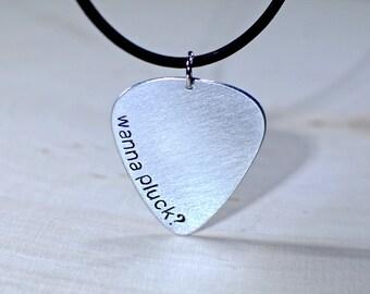 Aluminum Guitar Pick Necklace - NL721