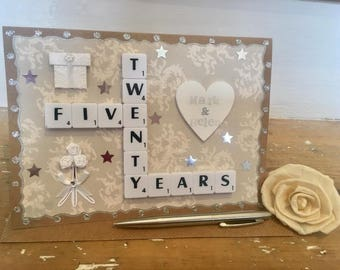 Bespoke Letterart handmade anniversary cards