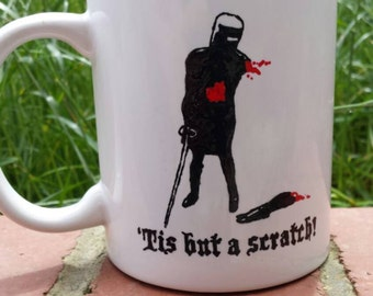 Hand Painted mug inspired by Monty Python and the Holy Grail