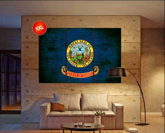 Idaho state flag  canvas Idaho state flag  wall decoration Idaho state flag  canvas art Idaho state flag  large canvas