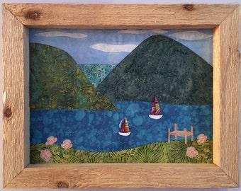 Framed Lake Scene Quilt