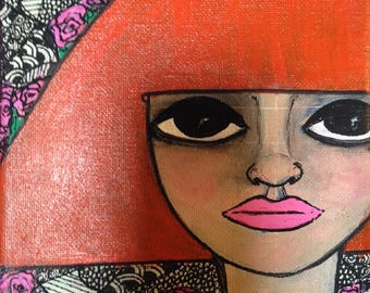 Mini Folk Art Portrait IV.