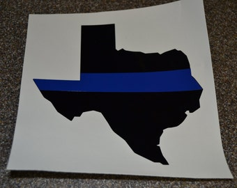 """5"""" ANY STATE - Blue Line Car Decal, Police Car Decal, State blue line decal, police support decal, law inforcement decal, police wife decal"""