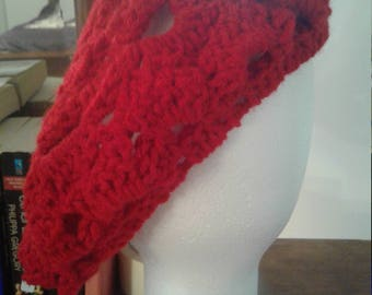 Rasberry Beret Crochet knit Hat