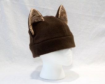 Wood Grain Cat Hat