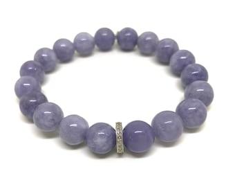 Pave diamond bracelet, Blue bracelet, Chakra jewelry Healing bracelet Diamond jewelry Blue jewelry Chakra bracelet Healing jewelry Angelite