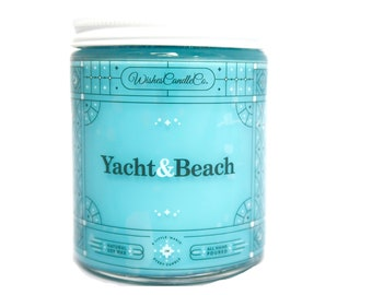 Yacht n' Beach Candle With Free Pin Inside