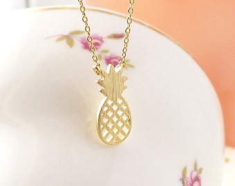 SALE,Pineapple Necklace, Dainty Necklace, birthday present, Gift idea,Unique Pendant, back to school necklace, kids necklace, Jewelry