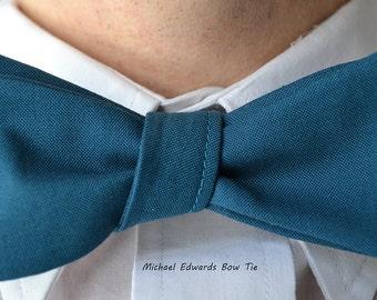 Blue Bow Tie, Wedding Bow Tie, Freestyle Bow Tie, Mens Turquoise Tie, Self-Tie Bow Tie, Turquoise Wedding, Prom Bow Tie, Turquoise Tie