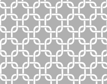 Grey and White Gotcha Storm Twill Premier Prints Fabric - One Yard - Gray and White Home Decor Fabric