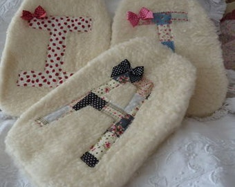 Personalised Vintage Style Initial Hot Water Bottle