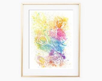 Garden Wall Art, Flowers Watercolor, Watercolor Painting, Flower Painting, Flower Wall Art, Flower Art Print, Printable Wall Art, Watercolor