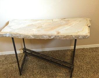 Z-truss folding stone coffee table