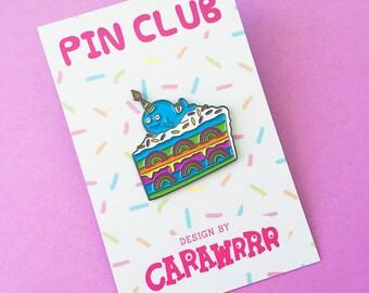 Limited Edition Enamel Pin - Rainbow Cake