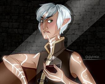 Dragon Age 2 -- Fenris 11x17 Print