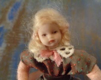 GOETHE rare german child doll for doll house/5.5cm/1980!