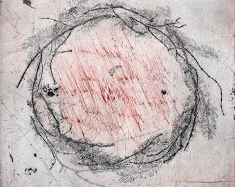 Sleep Drawing VII - Original Soft ground etching with drypoint