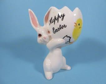 Mid Century Easter Rabbit Vase - Small Ceramic Bunny Rabbit Vase Planter