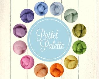 Roving Packs, Wool Roving, Pastel Palette, Wool Roving for Felting, Wool Roving for Spinning, Wool Roving for Sale, Needle Felting Supplies
