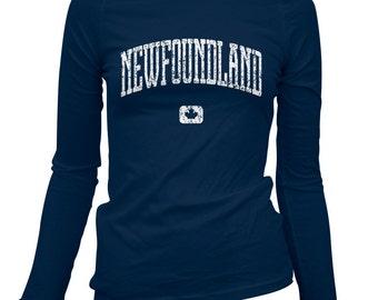 Women's Newfoundland Canada Long Sleeve Tee - S M L XL 2x - Ladies' Newfoundland T-shirt, Gift For Her, Newfie, St. John's, Labrador City