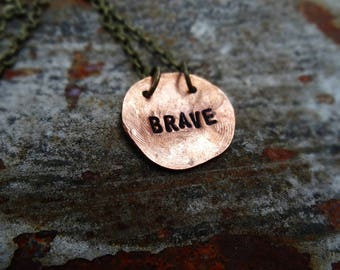Brave copper necklace