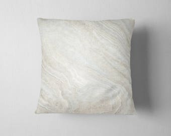Cream Stone Texture throw pillow