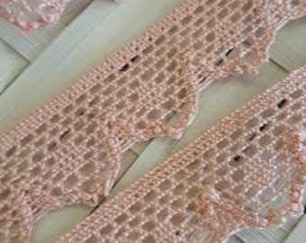 Pink lace in cotton net color style