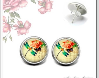 Stud Earrings 5 Version colors to choose Dragonfly 1 OSH-012-413