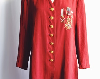 Red Jacket military medals