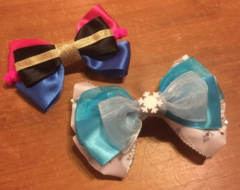 Disney Inspired Frozen (Anna and Elsa) Hair Bows