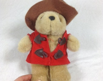 Vintage Paddington Bear Stuffed Bear Plush Paddington Bear 1996
