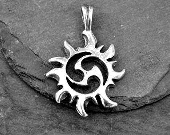 Pewter Tribal Pendant --  Tribal Jewelry