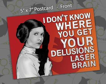 Postcard Print - Princess Leia - 5x7