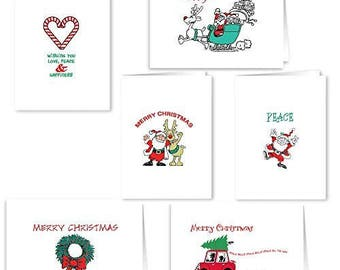 Christmas Card Collection Merry Christmas - 18 Holiday Cards & Envelopes - Boxed Christmas Cards - 903